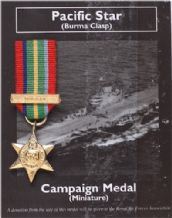 Pacific Star (Mini War Medal)